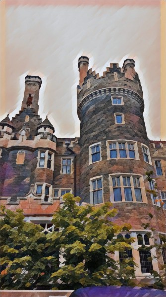 Side view of Casa Loma.