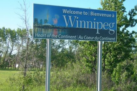 Welcome to Winnipeg road sign.