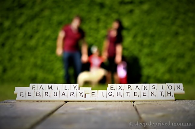 scrabble baby announcement